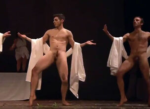 Naked men group