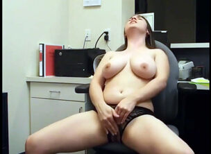 Big tits at office